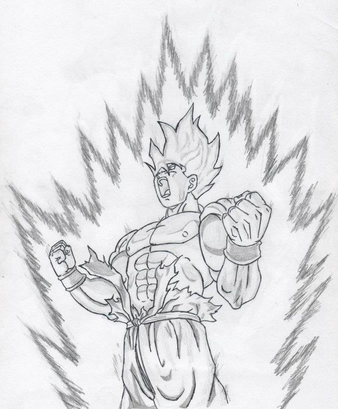 Dibujo de Son-Goku !! Dragon Ball Z