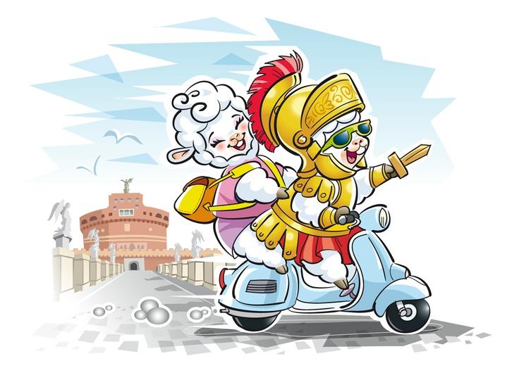Le mascotte Brunelli in gita a Roma, per la SMAU 2012!