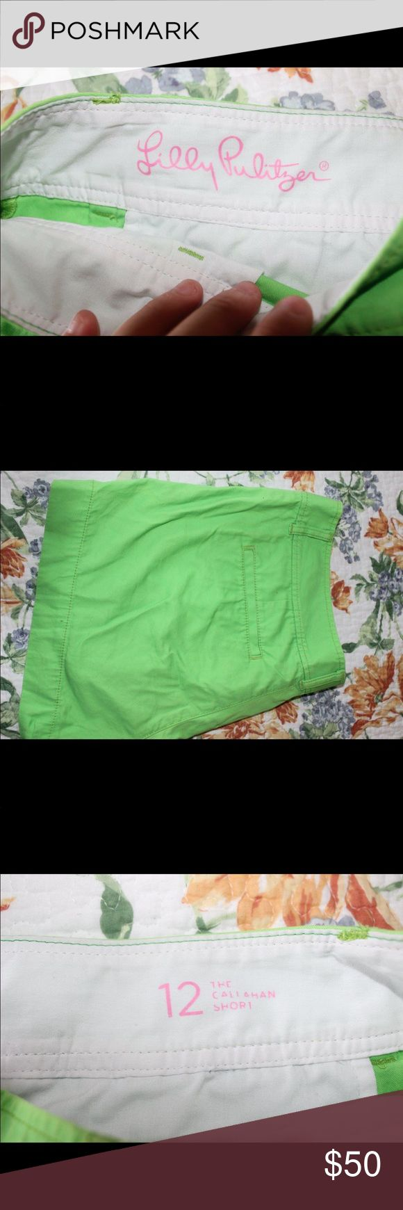 Lilly Pulitzer lime green shorts size 12 Great condition. Smoke/pet free home. Lilly Pulitzer Shorts