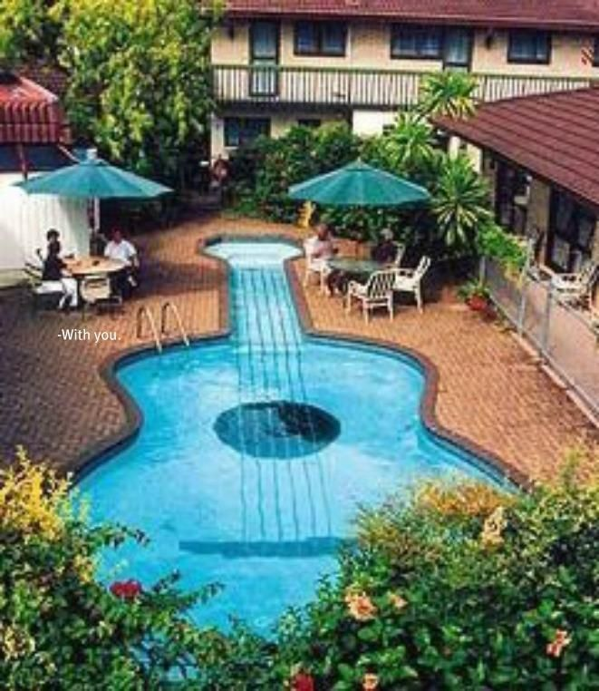 Guitar Pool Great Now I Need A Piano Pool And A Guitar