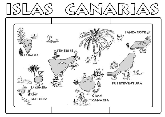 17 best images about canarias on pinterest mandalas bird of paradise and toys - Islas canarias dibujo ...