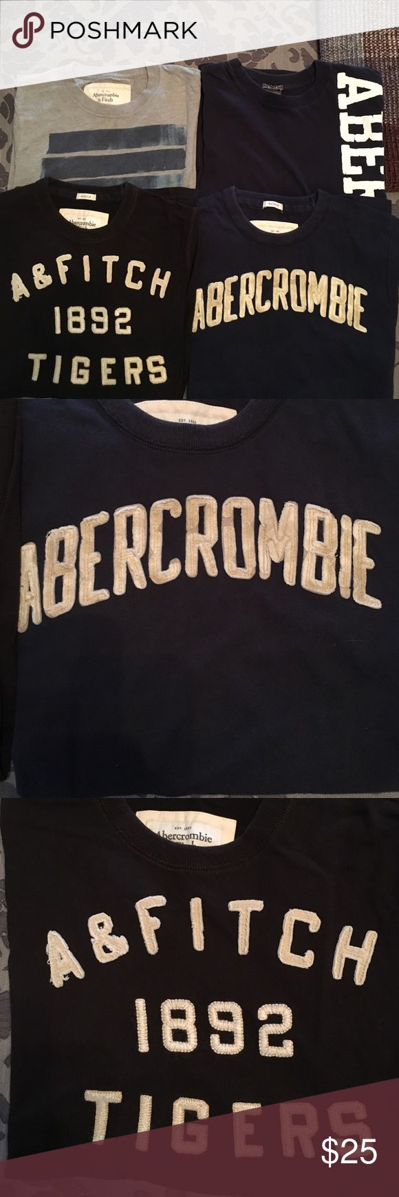 4 mens Abercrombie and Fitch t-shirts 4 men's medium Abercrombie and Fitch t-shirts, all size Medium Abercrombie & Fitch Shirts Tees - Short Sleeve