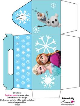 Favor Box 2, Frozen, Favor Box - Free Printable Ideas from Family Shoppingbag.com