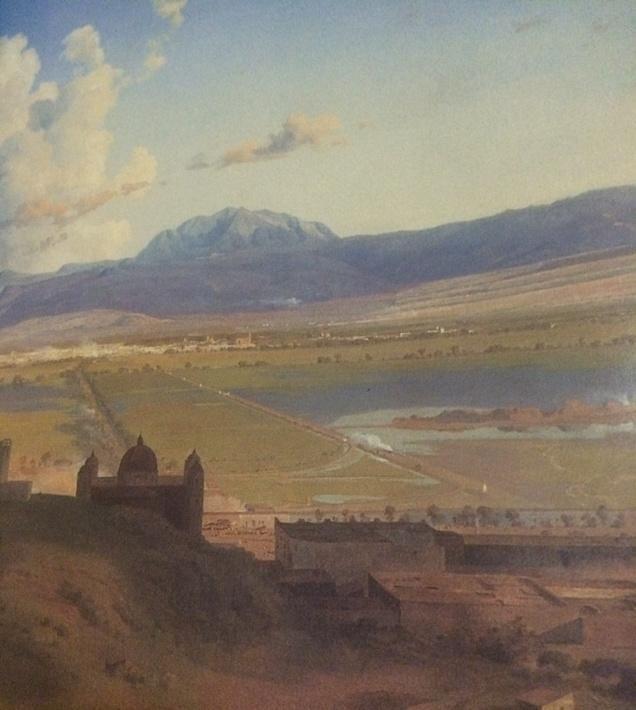 RT @LizbethRez: El Valle de México desde el cerro de Atzacoalco, 1873 José María Velasco.