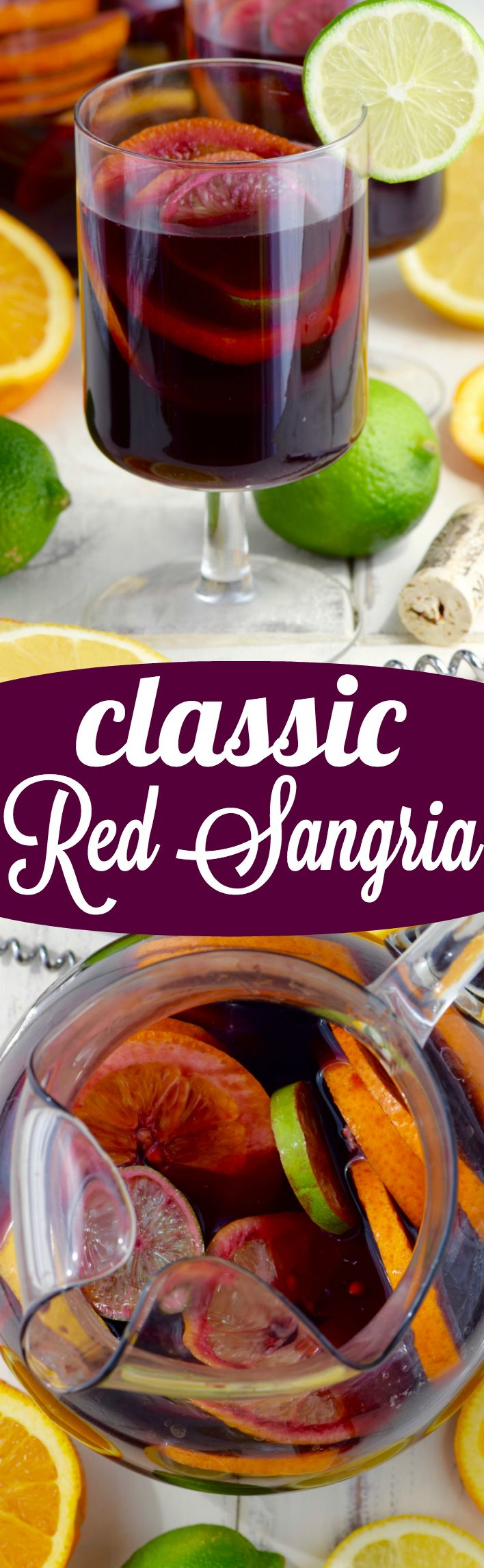 A traditional Red Sangria that comes together in about 10 minutes and is SO delicious!