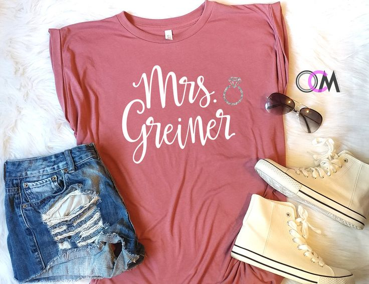 Future Mrs Shirt, Future Mrs Muscle Tank, Bride Shirt, Wedding Shirt, engagement Shirt, Bridal Shower Gift, Bachelorette Shirts, Bride Tank by 1OneCraftyMomma on Etsy