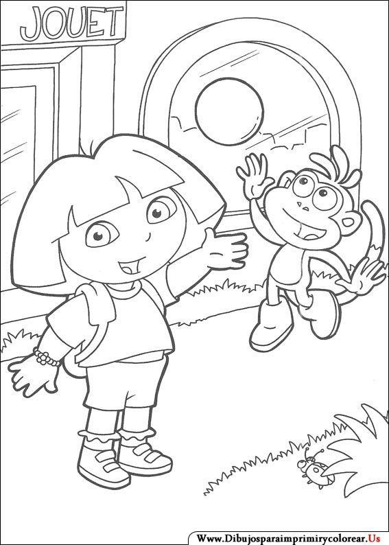 78 best compl dora l esploratrice images on Pinterest Dora the - new dora christmas coloring pages free printable