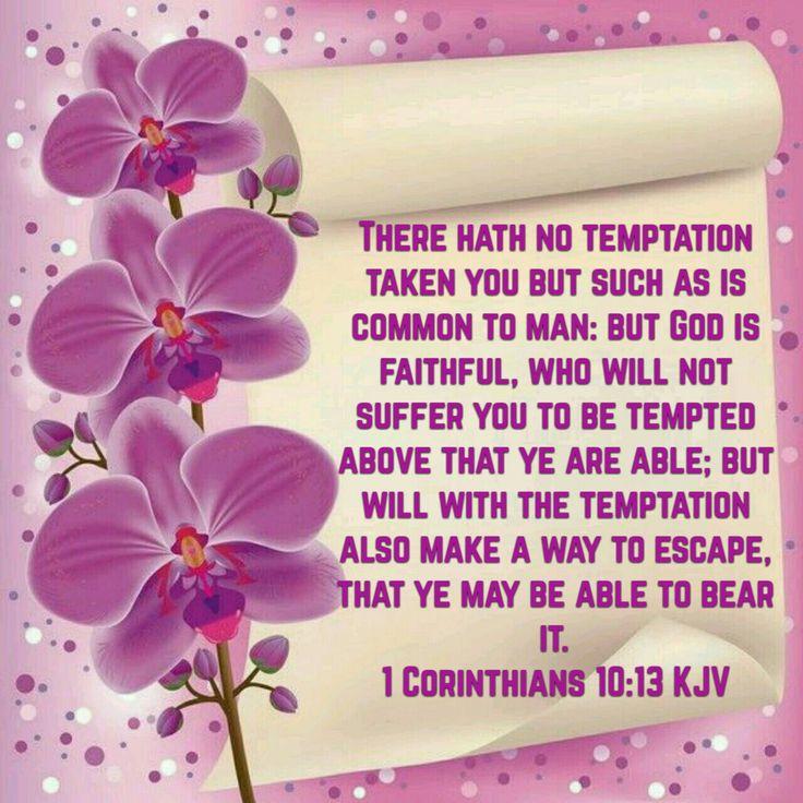 1 Corinthians 10:13 (KJV)