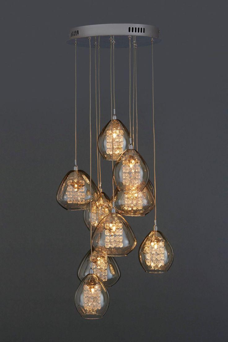 smokey amber cluster pendant || Next UK ¿Quieres que te dotemos de superpoderes para decorar tu hogar con nuestra poderosa app? Visitanos,decora y conoce el precio al instante. www.youcandeco.com