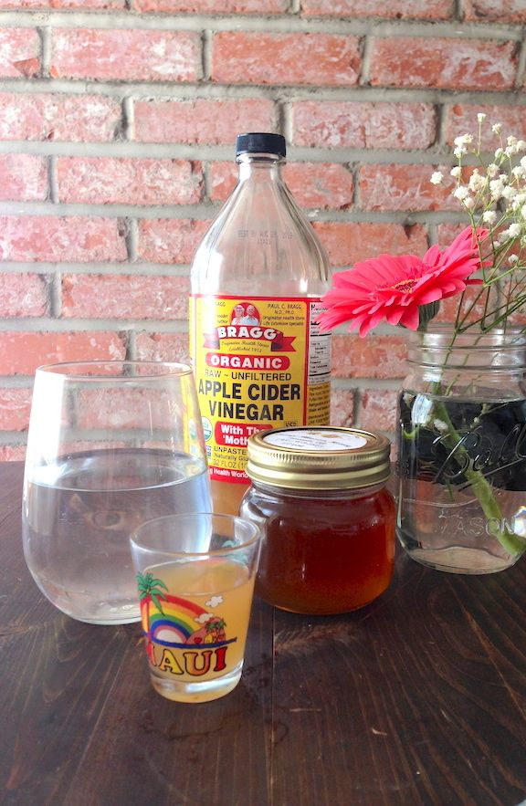 1cup water + 1Tablespoon raw apple cider vinegar +'honey to taste - daily