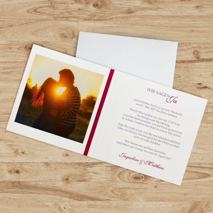 Einladungskarte Hochzeit Lovely Couple Bordeaux