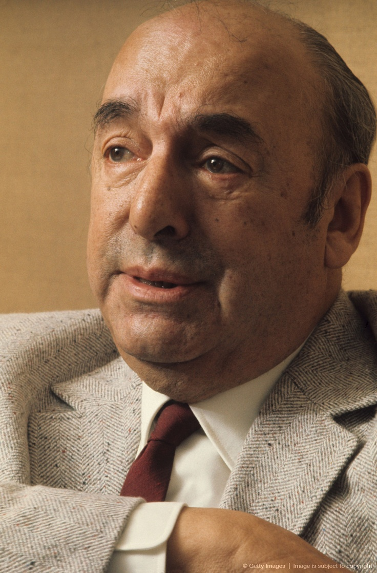 Pablo Neruda, chilean poet, diplomat and politician.