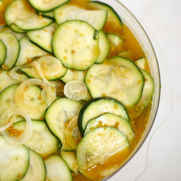 """""""For all the Zucchini you will be growing this summer"""" Zuni Café Zucchini Pickles...Sue 2014"""