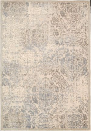 Blue and grey area rug at Rug Studio. Their rugs are very inexpensive!