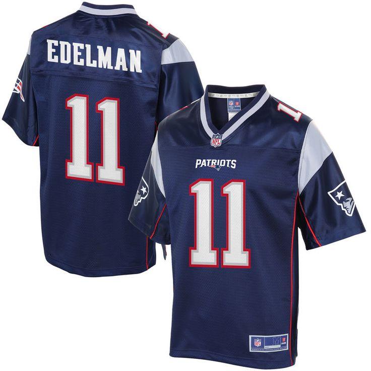 Men's New England Patriots Julian Edelman NFL Pro Line Navy Team Color Jersey