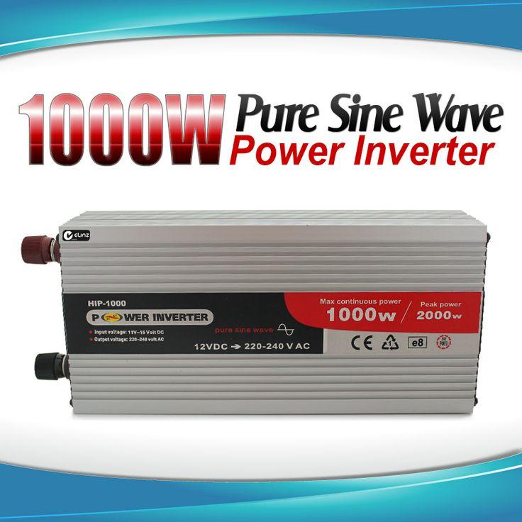 Pure Sine Wave Power Inverter 1000w |2000w 12v - 240v AUS plug Car Boat Caravan | Elinz
