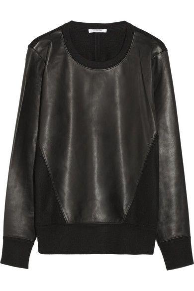 Alexander Wang, leather & wool sweatshirt