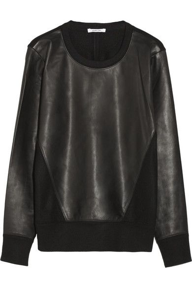 Alexander Wang, leather & wool sweatshirt