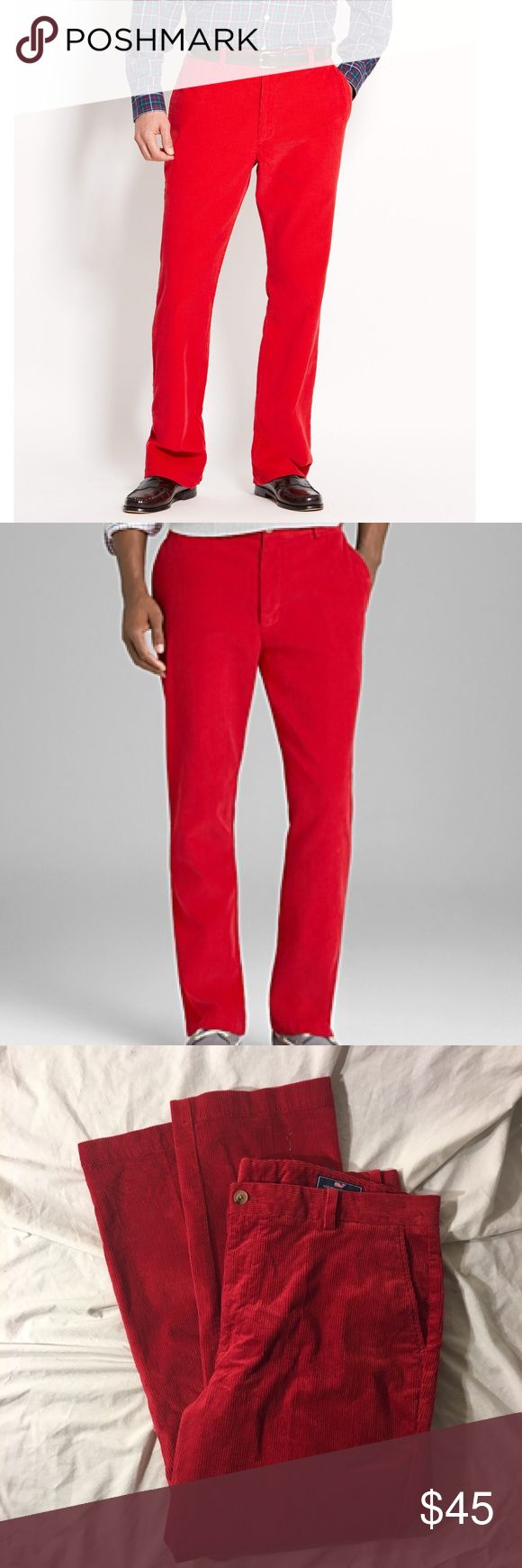 Vineyard Vines Slim Fit Beaker Red Cords Pants These are new with tag. The stock hoots accurately show fit. Length 30. Vineyard Vines Pants Corduroy
