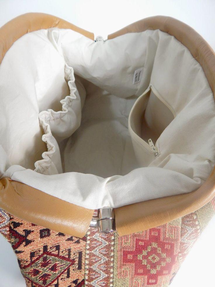 Mrs H - the blog: Adding elasticated pockets to your Companion Carpet bag