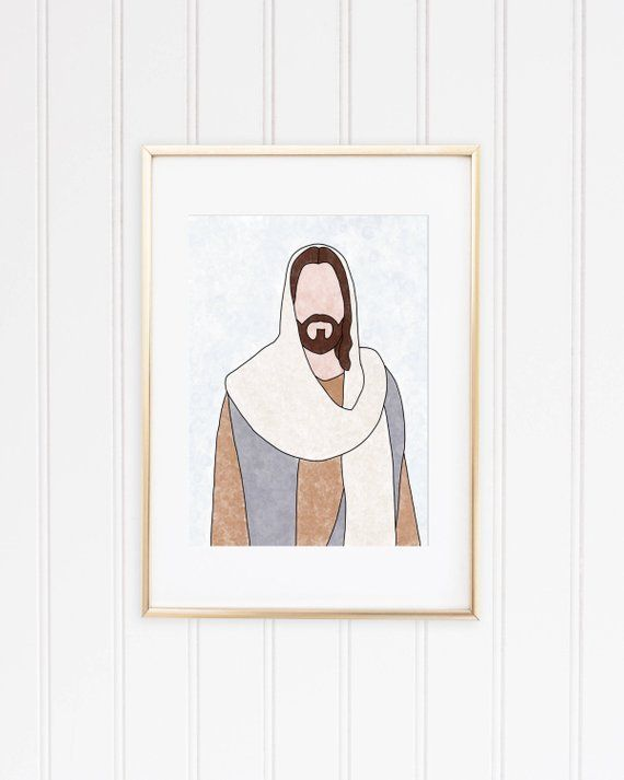Jesus Nursery Art Jesus Painting Picture Of Jesus Jesus Art