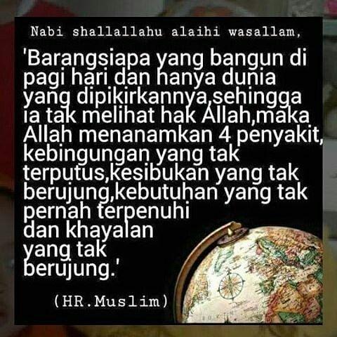 @sedekah.harian -  Jangan awali pagi dengan (hanya) memikirkan dunia saja yuk . . . Tag sahabat shalih mu ya . . Moga Allah jauhkan kita dari hal demikian