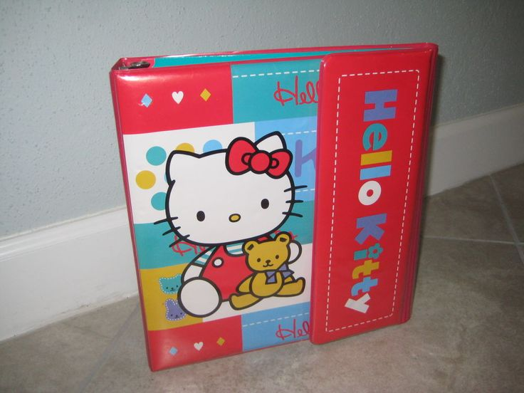 Vintage SANRIO HELLO KITTY 1997 EUC Trapper Keeper Binder Pencil Bag USED