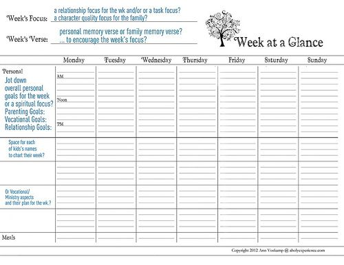 The 25+ best Week at a glance printable ideas on Pinterest At a - daily task planner template