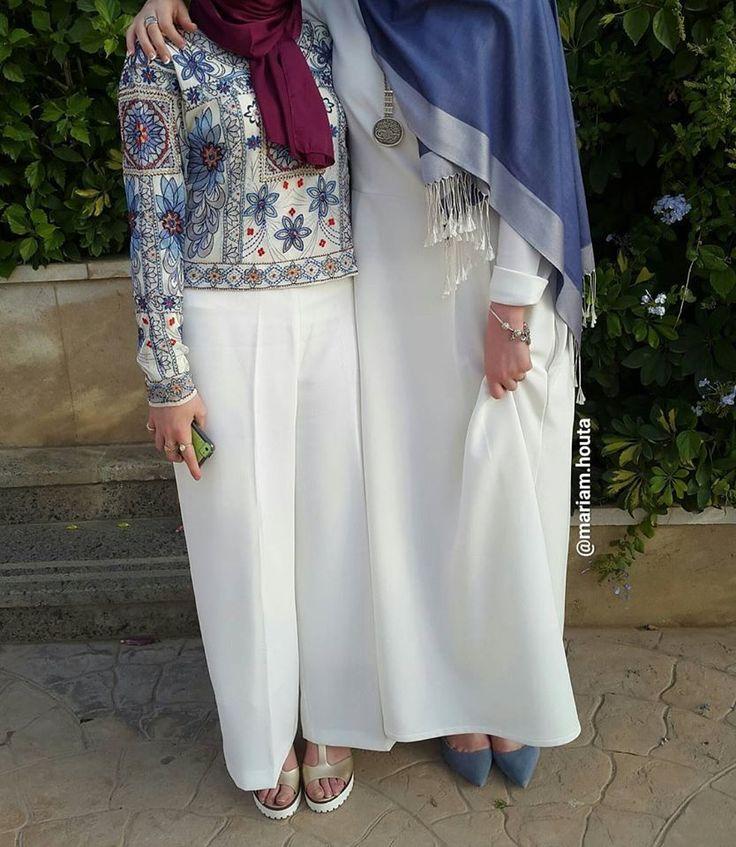 White aka abaya - office wear muslima wear www.annahariri.com