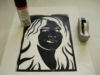 step-by-step of stencil portraits