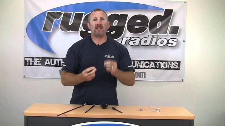 Long Range Antenna and BNC Connector for Handheld Radios by Rugged Radios
