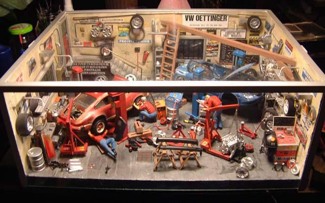Auto garage diorama 1/18 - Buy/Sell Auto garage diorama model car on Alldiecast.us