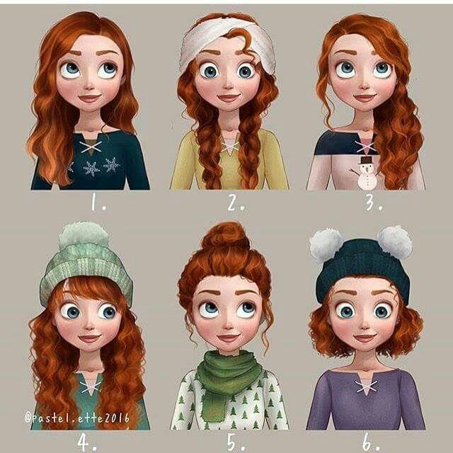Which hairstyle of Merida is your favorite? Best of Disney Art by Pastel.ette
