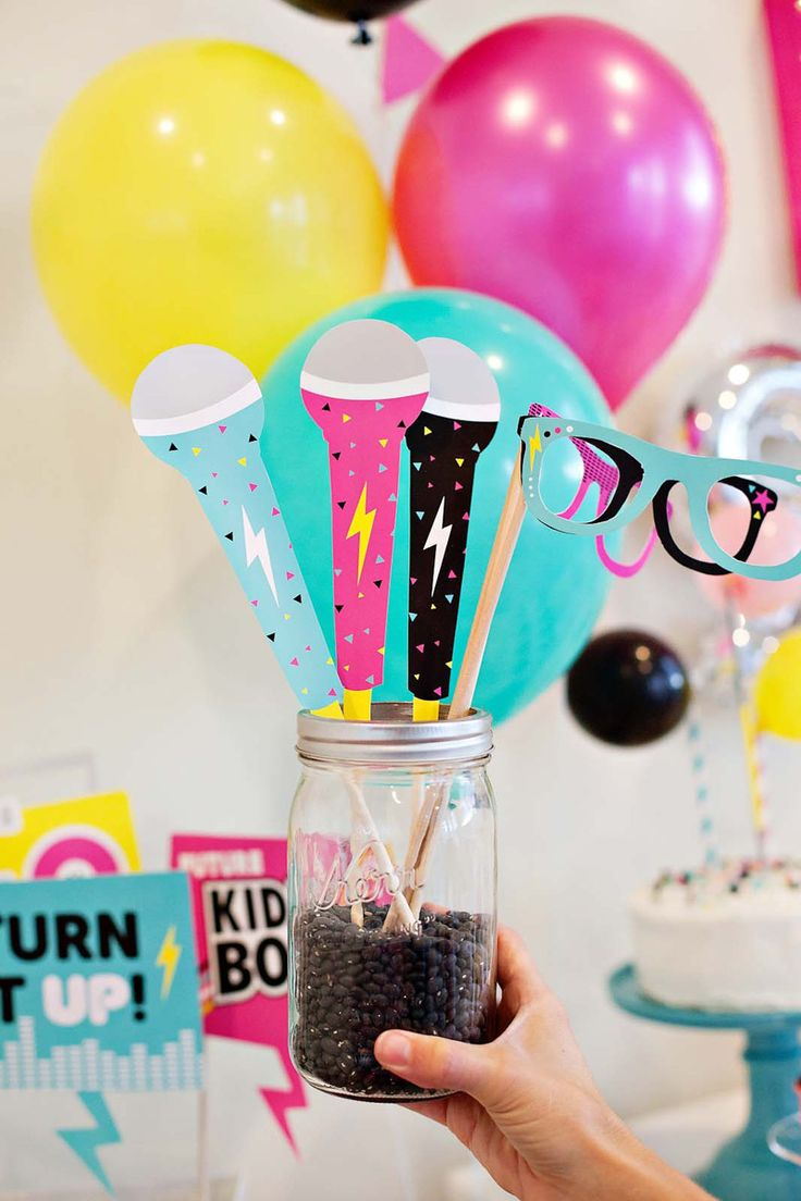 How to Throw the Ultimate POP STAR Party! {Ideas, Activities & Free  Printables