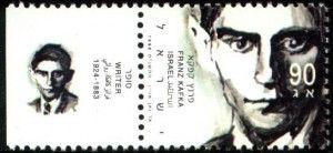 Briefmarke aus Israel von 1998 mit Franz Kafka.