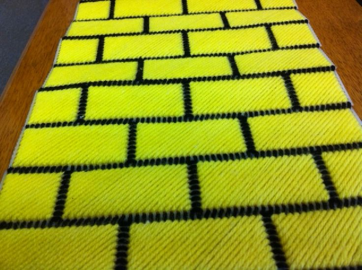 Wizard of Oz Yellow Brick Road Table Runner Plastic Canvas ...