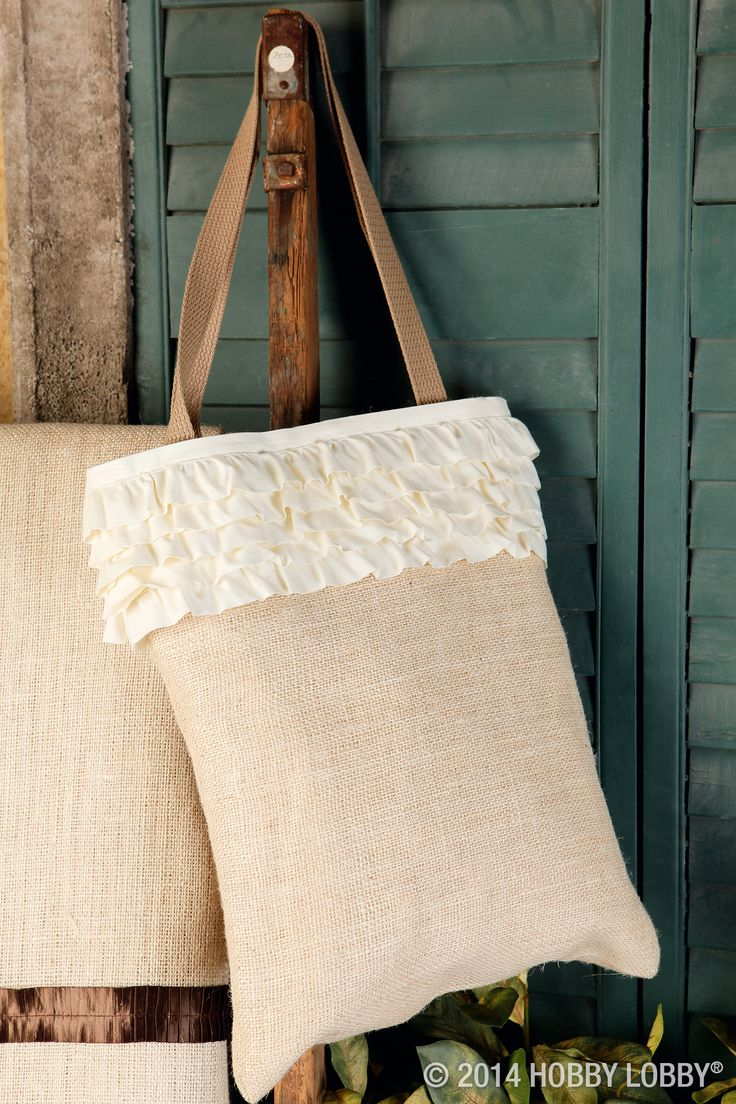 This easy to sew burlap bag is a perfect