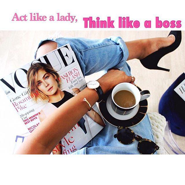 """Actitud de Lunes  """"Actúa como dama, piensa como jefe"""" ✨ Les deseo a todos un feliz inicio de semana!! Una actitud positiva es súper importante para cambiar cualquier día  Besos!!  #sobretacos #tacones #lady #girly #boss #shoes #heels #higheels #sandalias #zapatos #blogger #blog #bloguera #chileanblogger #chileanblog #beauty #quotes"""