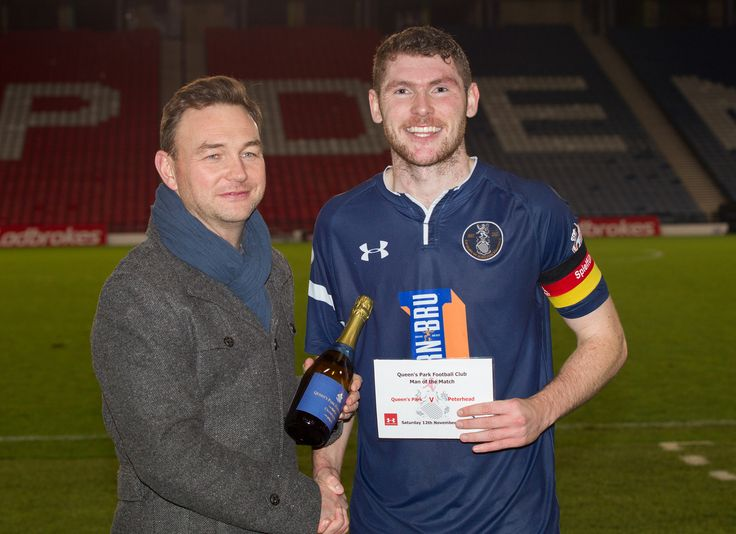 Queen's Park's Ryan McGeever Man of the Match after the Ladbrokes League One game between Queen's Park and Peterhead