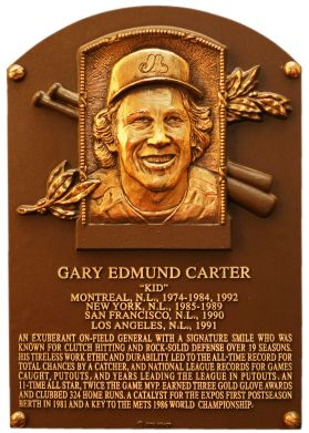 Gary Carter Hall of Fame catcher for Les Expos