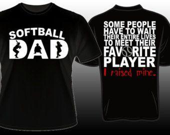 9a40a6200bc3d Proud Softball Dad Favorite Player T-shirt