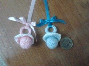 Chupete tejido a crochet