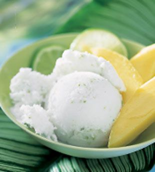 Coconut Milk Ice Cream with ginger and lime http://www.bonappetit.com/recipes/2002/07/coconut_milk_ice_cream_with_ginger_and_lime