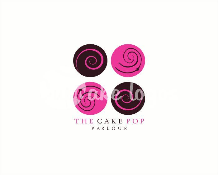 The Cake Pop Parlour premade cake pop logo design $45.00