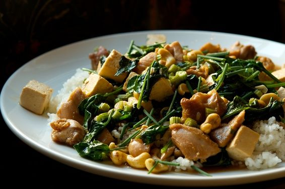 Chicken and Tofu Stir Fry with Celery and Cashews | Recipe