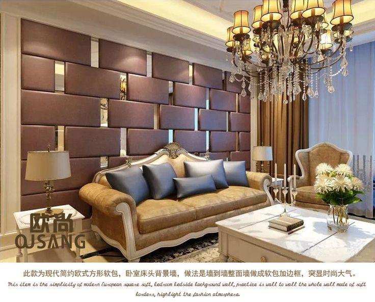 Современный минималистский спальни гостиной ТВ фон прикроватная мягкой упаковке мягкой упаковке фон диван фон мягкий мешок жесткий мешок - Taobao