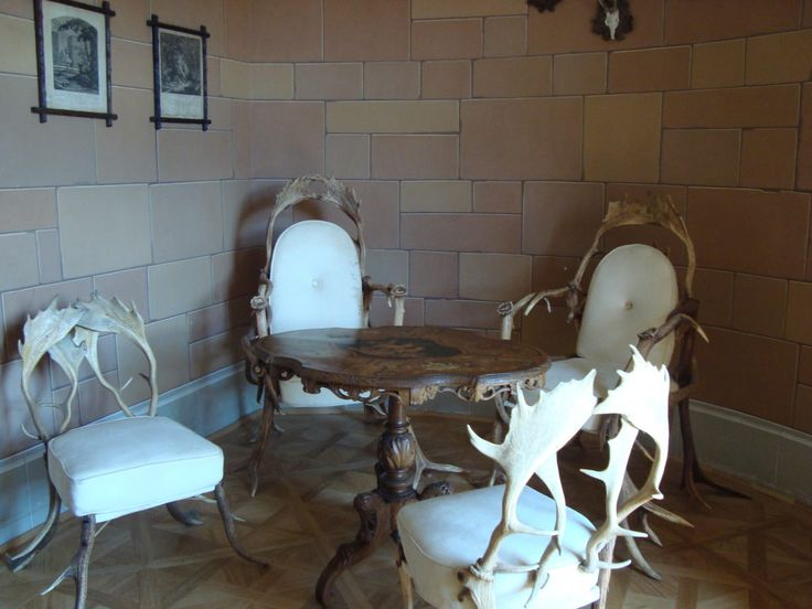 Seating set in Bitov Castle, Czech Republic
