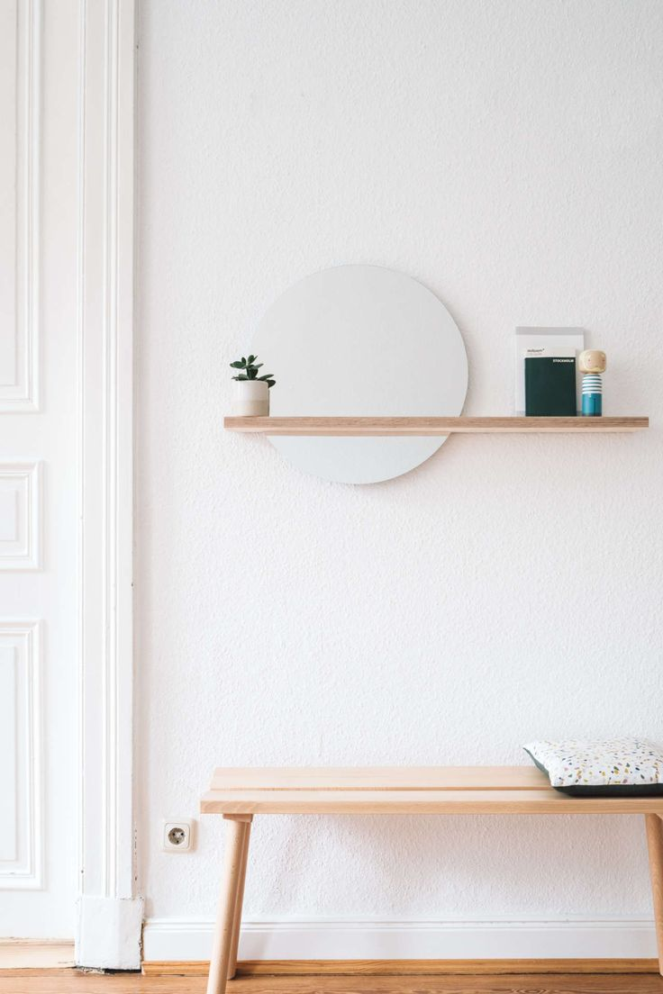 DIY Spiegel mit Ablage