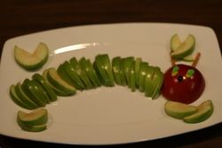 Hungry Caterpillar Birthday Party - The Very Hungry Caterpillar: Food Display, Caterpillar Parties, Food Ideas, Birthday Parties, Caterpillar Birthday, 1St Birthday, Hungry Caterpillar, Parties Ideas, Snacks Ideas