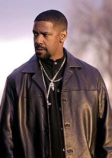 """"""" The only real mishap, he said, is that a crane fell over during shooting. """"And one of the guys said to me, 'You guys talk about us killing you? You almost killed us.'"""" -Denzel on shooting Training Day in the ghetto's of Cali."""